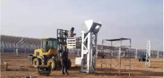 100MW parabolic trough solar pant installing the hydraulic drive system