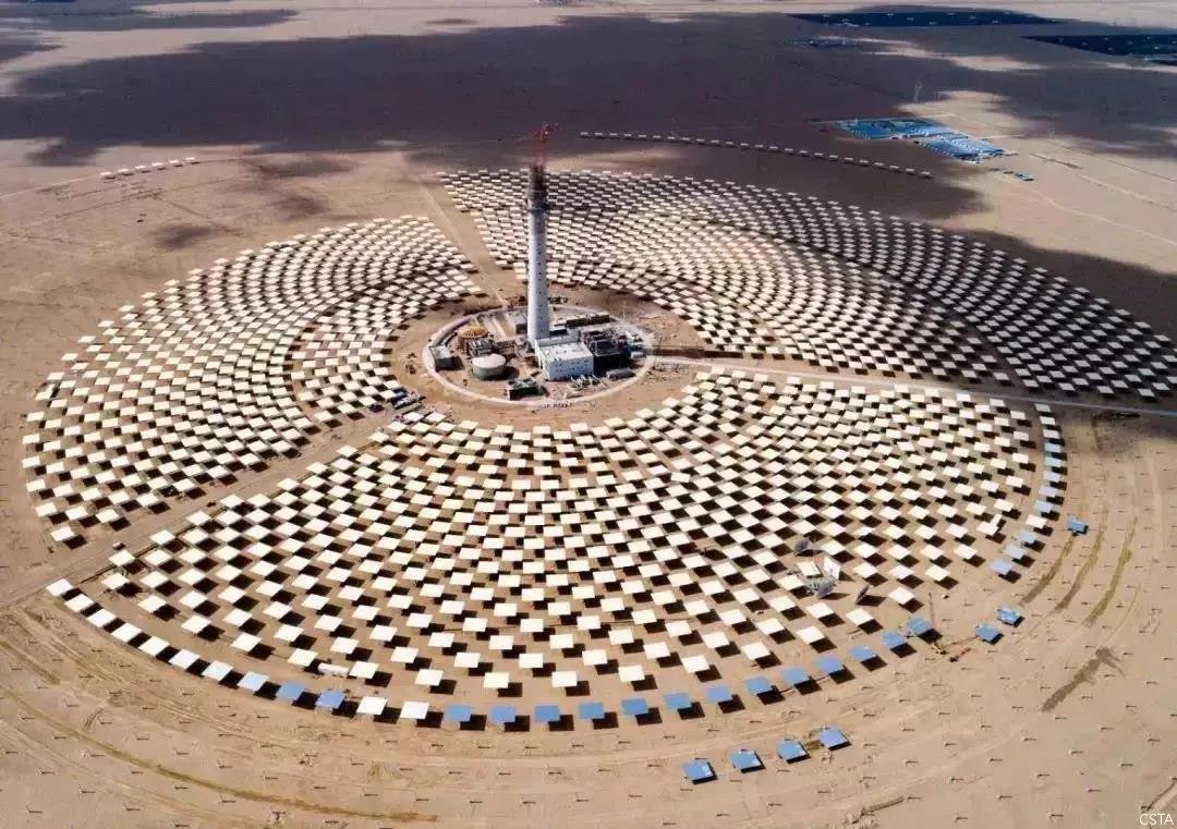 Luneng 50mw Solar Tower Project Is Debugging The Mirror Control System China National Solar Thermal Alliance